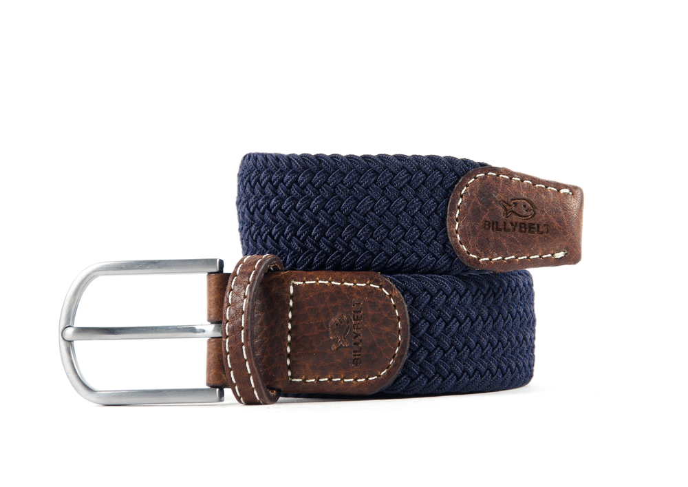 Men's Braid Belt: Navy Blue