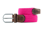 Men's Braid Belt: Fuchsia pink
