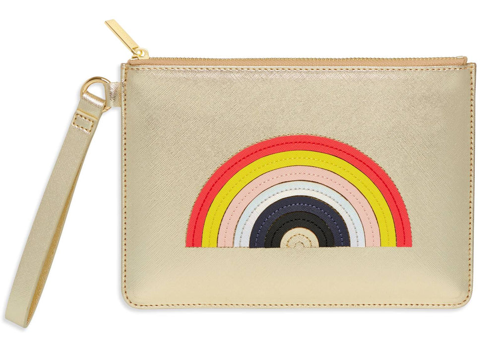 Rainbow Applique Medium Pouch