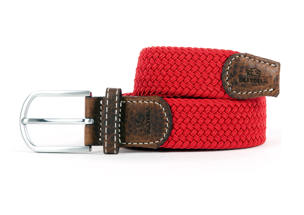 Men's Braid Belt: Red Grenade
