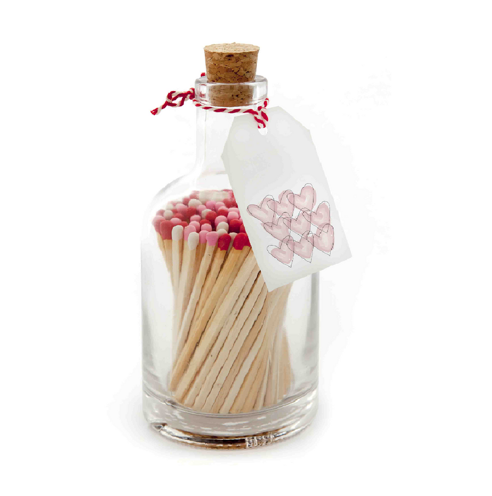 Red & White Matches in Jar