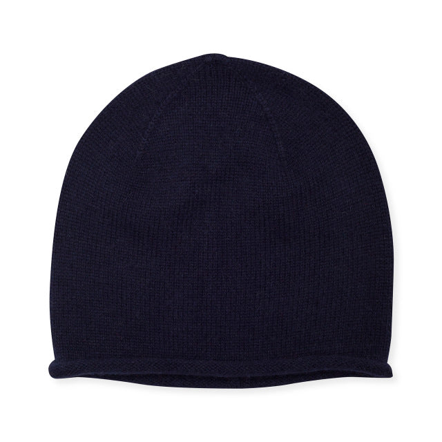 Cashmere Plain Knit Hat - Black
