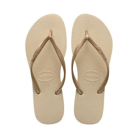 Slim Flip Flops Sand Grey/Light Golden - Havaianas Canada