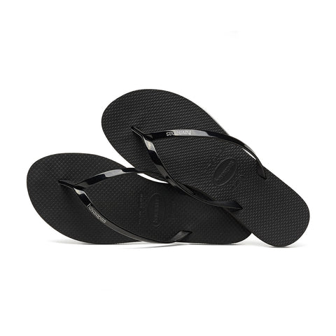 You Metallic Flip Flops Black - Havaianas Canada