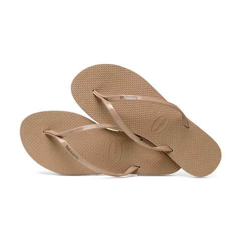 You Metallic Flip Flops Rose Gold - Havaianas Canada