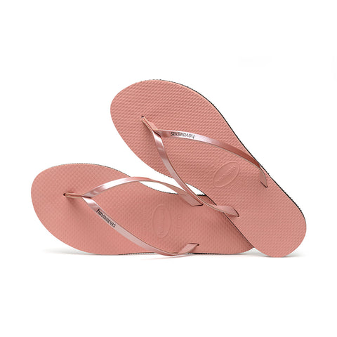 You Metallic Flip Flops Rose Nude - Havaianas Canada