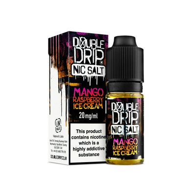 Mango Raspberry Ice Cream by Double Drip Salt Nic