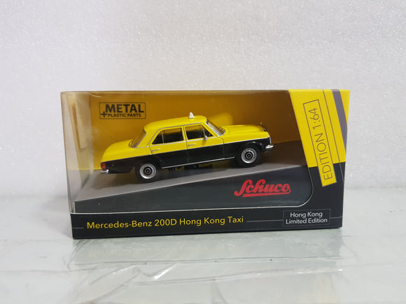 1:64 Schuco Mercedes Benz 200D Taxi - Yellow