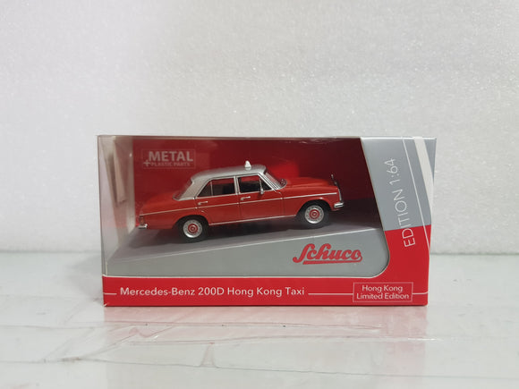 1:64 Schuco Mercedes Benz 200D Taxi - Red