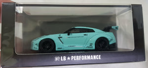 1:64 OEM Liberty Walk Nissan GTR R35 LB Tiffany Blue