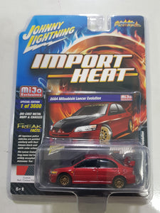 1:64 Johnny Lightning Mitsubishi Lancer Evolution Red with Carbon