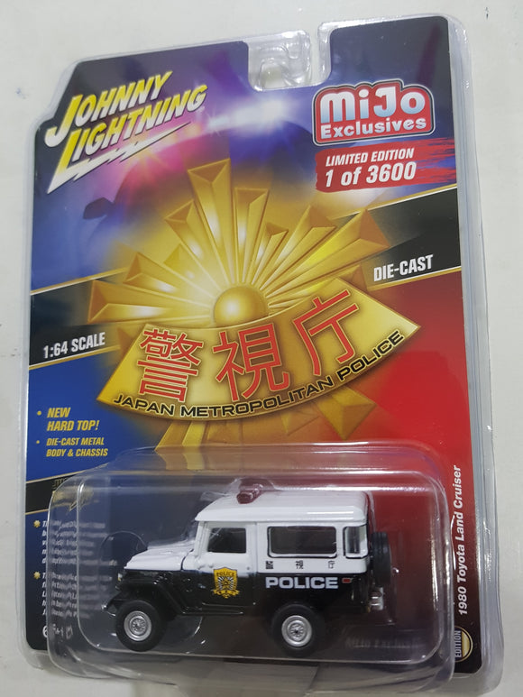 1:64 Johnny Lightning Toyota Land Cruiser 1980 Japan Metropolitan Police