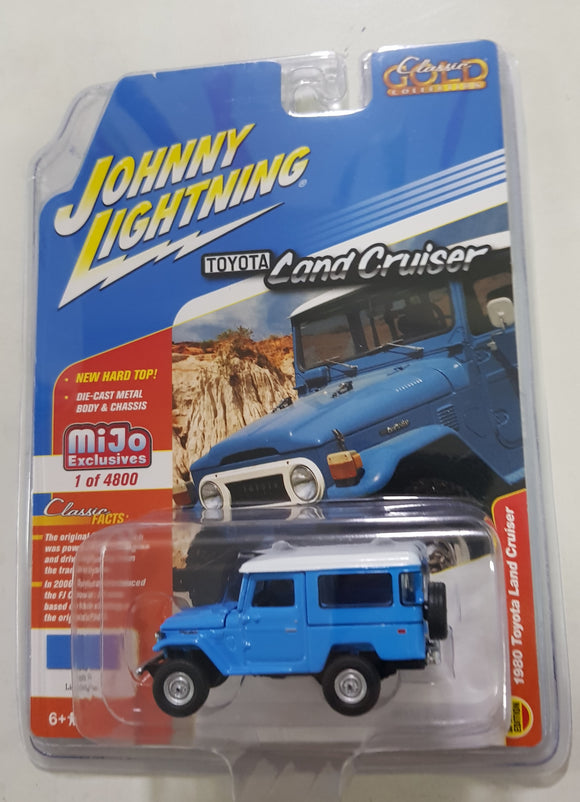 1:64 Johnny Lightning Toyota Land Cruiser 1980 Blue