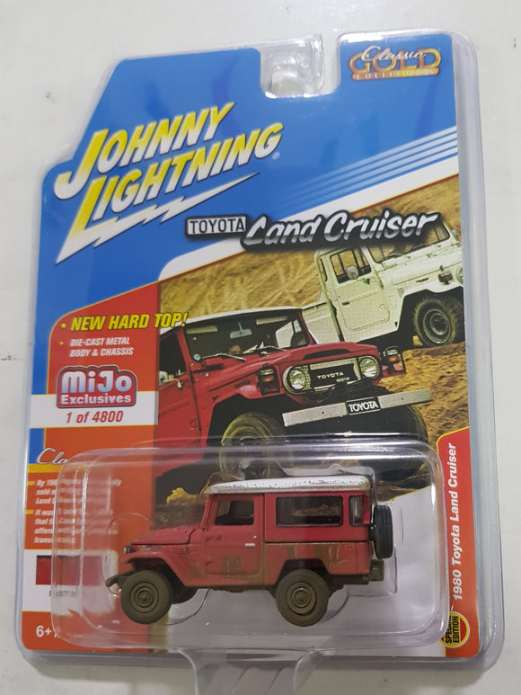 1:64 Johnny Lightning Toyota Land Cruiser Rusty Red