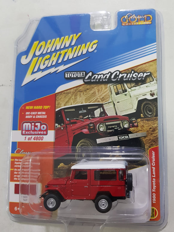 1:64 Johnny Lightning Toyota Land Cruiser Red