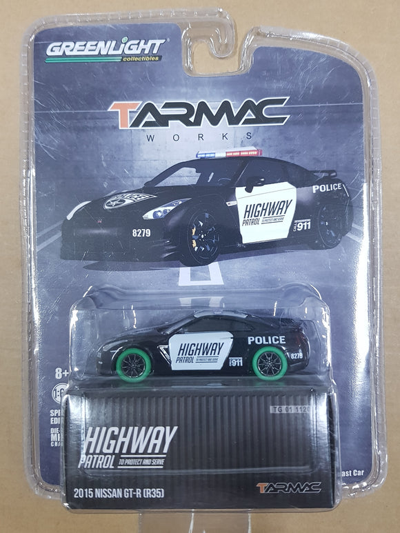 1:64 ☆Chase☆ Tarmac Works Nissan GTR R35 Highway Police