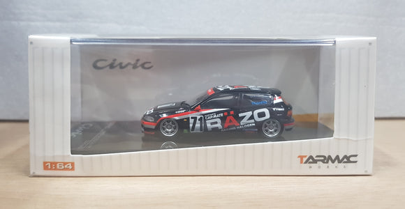 1:64 Tarmac Works Honda Civic EG6 Gr N #71 Team Razo