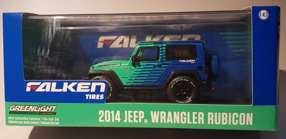 1:43 Greenlight Jeep Wrangler Rubicon Falken
