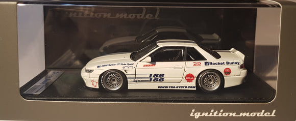 1:43 Ignition Model Rocket Bunny S13 V1 White