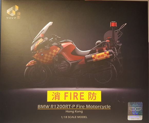 1:18 Tiny BMW R1200RT-P Fire Motorcycle