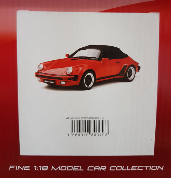 1:18 GT Spirit Porsche 911 3.2 Speedster - Red