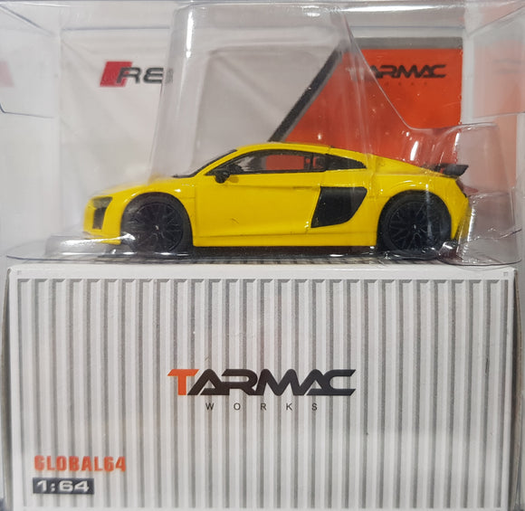 1:64 Tarmac Works Audi R8 V10 Plus - Vegas Yellow