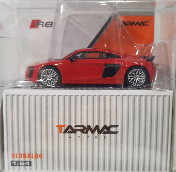 1:64 Tarmac Works Audi R8 V10 Plus - Dynamic Red