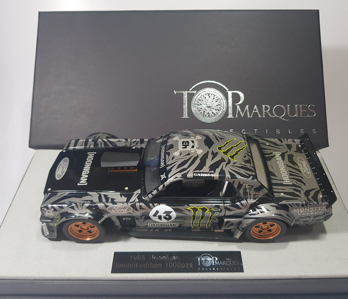 1:18 Top Marques Ford Mustang #43 Hoonigan 1965 - toyznetwork