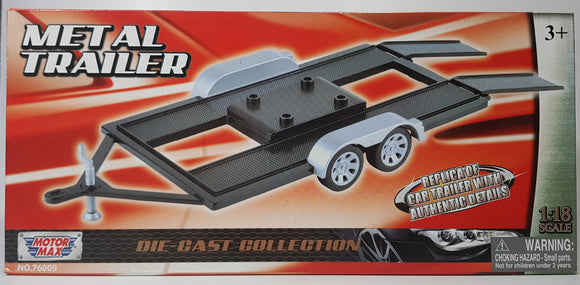 1:18 MotorMax Metal Trailer
