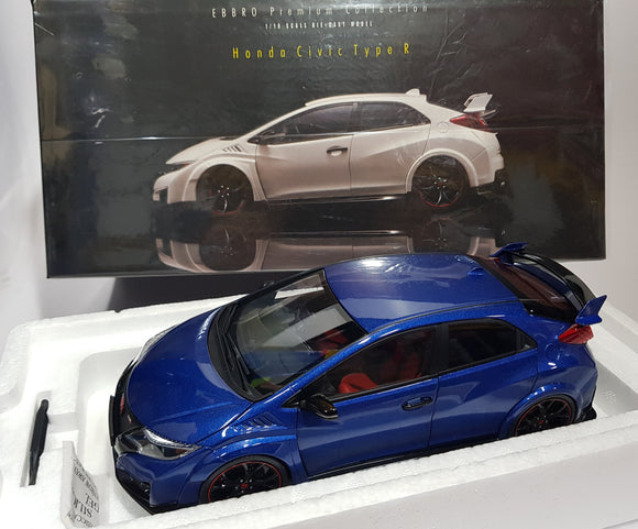 1:18 Ebbro Honda Civic Type R - Blue