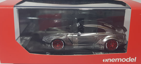 1:43 OneModel LB Nissan GTR R35 Ducktail - Chrome