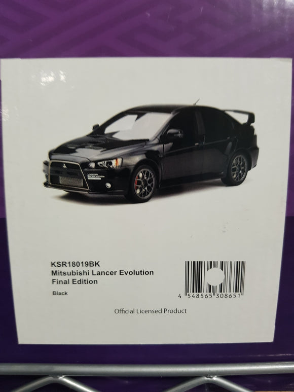 1:18 Samurai Mitsubishi Lancer Evolution Final Edition - Black