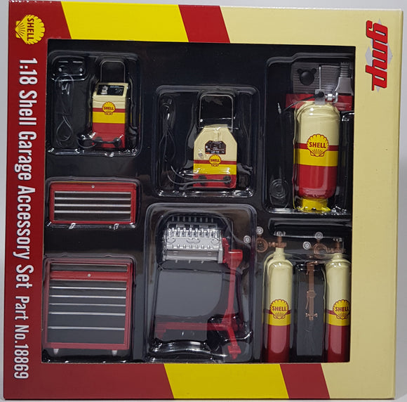 1:18 GMP SHELL Garage Accessory Set