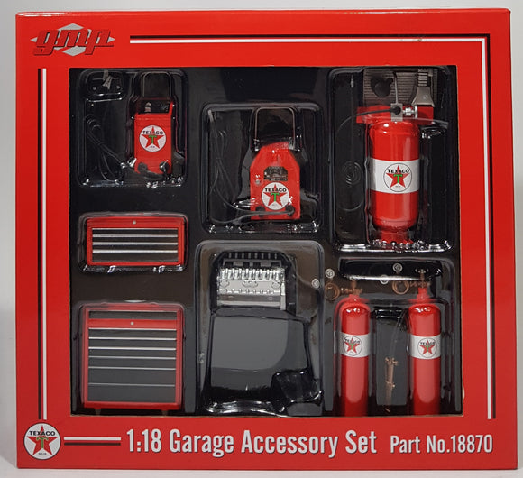 1:18 GMP Texaco Garage Accessory Set