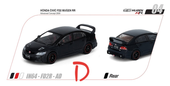 1:64 Inno64 Honda Civic Type RR FD2 Mugen RR Advance Concept 2009