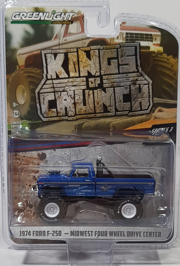1:64 Greenlight Ford F-250 1974 Midwest Four Wheel Drive Centre
