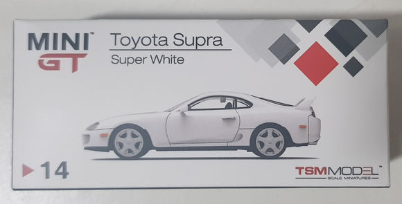 1:64 Mini GT Toyota Supra #14 - Super White