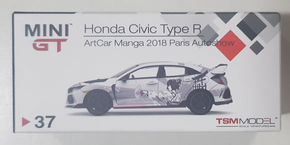 1:64 Mini GT Honda Civic Type R #37 - ArtCar Manga 2018 Paris Autoshow