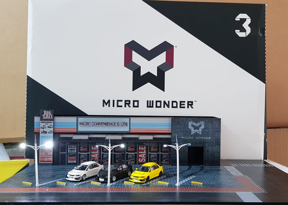 1:64 Micro Wonder Diorama Convenience Store with Open Carpark