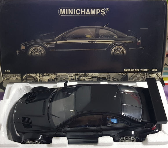 1:18 Minichamps BMW M3 GTR Street 2001 - Black