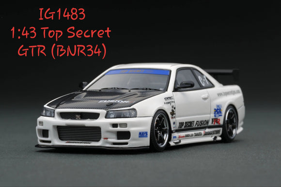 1:43 Ignition Model Top Secret  GTR (BNR34) - TS Wheel - White