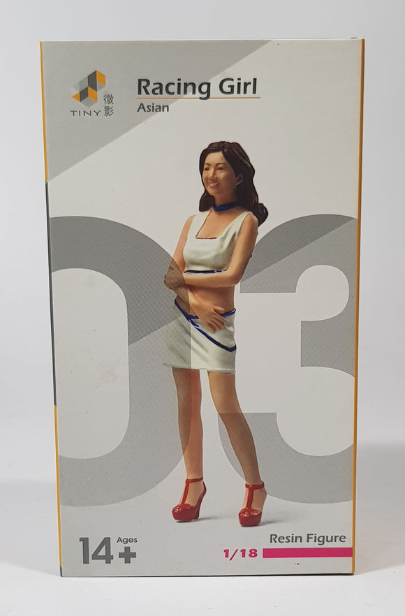 1:18 Tiny Asian Racing Girl Figurine - #03
