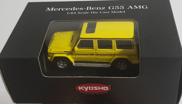 1:64 Kyosho Mercedes Benz G55 AMG - Yellow