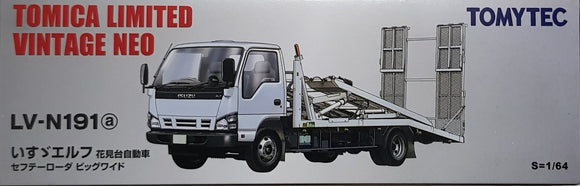 1:64 Tomica Limited Vintage Neo LV-N191a Isuzu ELF Safety Loader Big Wide - White