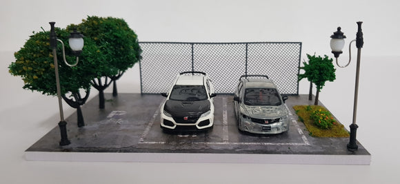 1:64 Diorama Scene - 2 Lots in Park (Cars not included)