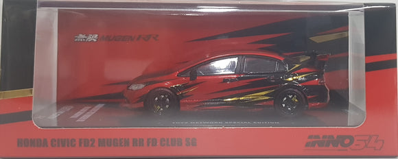 1:64 Inno64 Honda Civic FD2 Mugen RR Type R (FD Club SG) - NO Wordings
