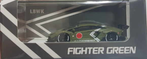 1:64 Timothy & Pierre LB Lamborghini Aventador Fighter Green