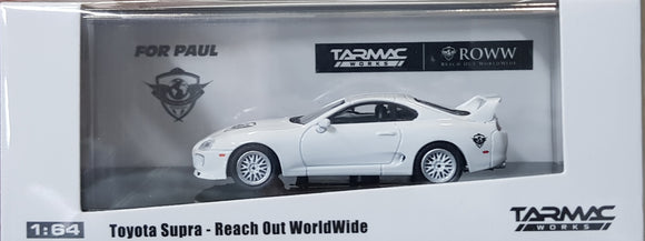 1:64 Tarmac Works Toyota Supra - For Paul - ROWW Reach Out Worldwide