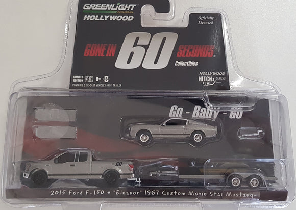 1:64 Greenlight Ford F150 / Eleanor 1967 Custom Movie Star Mustang - Gone in 60 seconds