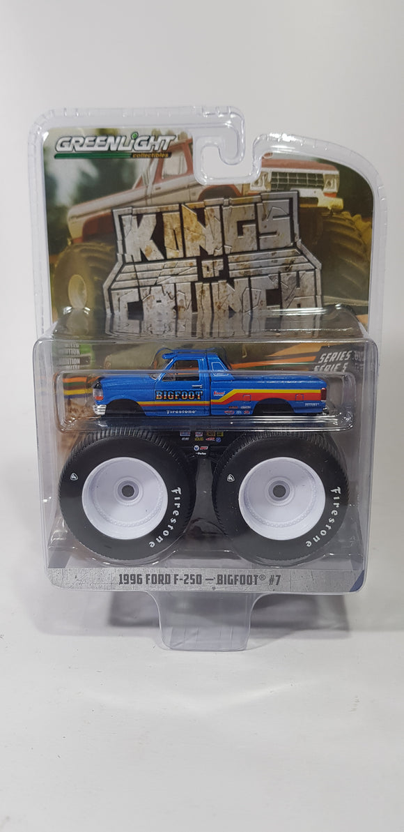 1:64 Greenlight Ford F-250 #7 BigFoot - King Of Crunch Series 5